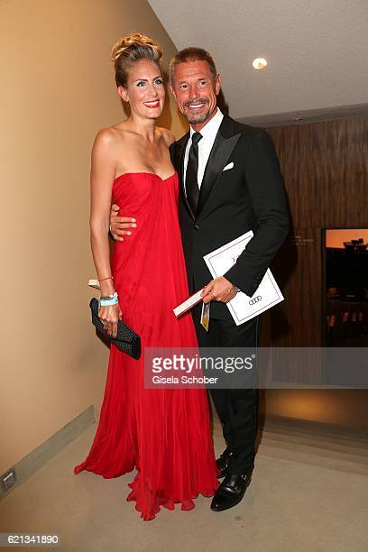 Hans Wehrmann and his wife Vanessa Wehrmann during the 23rd Opera Gala at Deutsche Oper Berlin on November 5 2016 in Berlin Germany