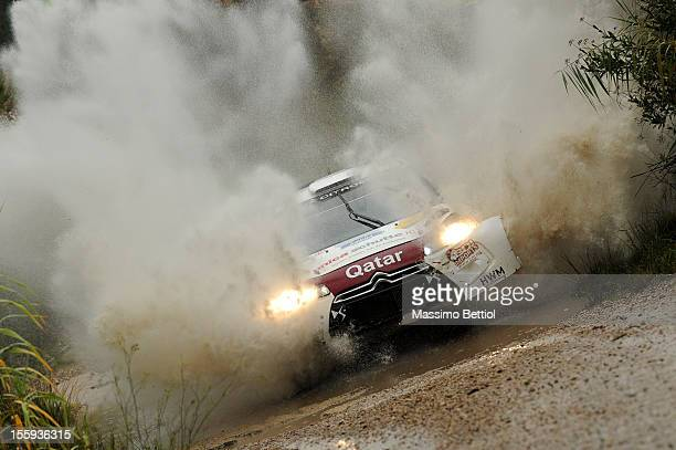 Hans Weijs of Nederland and Bjorn Degant of Belgium compete in their Qatar WRT Citroen DS3 WRC during Day One of the WRC Spain on November 09 2012 in...