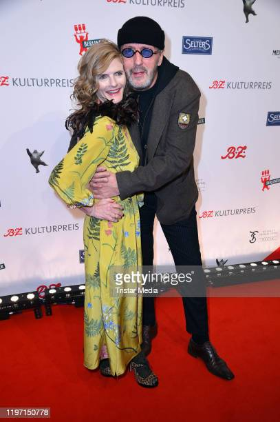 Hans Werner Olm and his partner Cornelia Utz attend the BZ Kulturpreis award on January 28 2020 in Berlin Germany