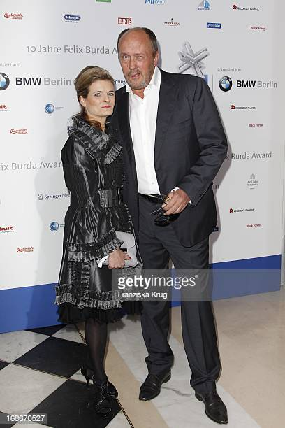 Hans Werner Olm with his wife Kathrin at the 10th Anniversary Of The Felix Burda Award at Hotel Adlon in Berlin