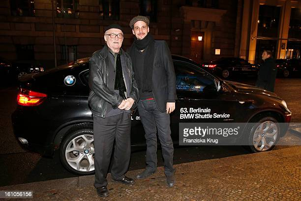 Hans Wilhelm Geissendoerfer and Max von Thun attends the 'Festival Night by Bunte and BMW' at the 63rd Berlinale International Film Festival at the...