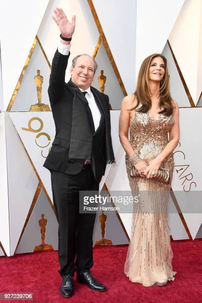 Hans Zimmer and Dina De Luca attend the 90th Annual Academy Awards at Hollywood Highland Center on March 4 2018 in Hollywood California