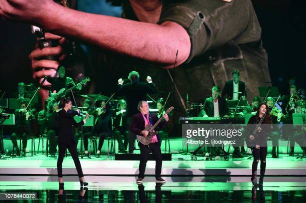 Hans Zimmer and GOTY perform on stage at The 2018 Game Awards at Microsoft Theater on December 06 2018 in Los Angeles California