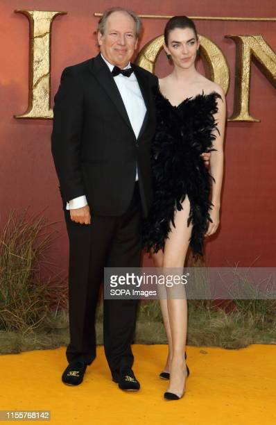 Hans Zimmer and Zoe Zimmer attend the European Premiere of Disney's The Lion King at the Odeon Luxe cinema Leicester Square in London