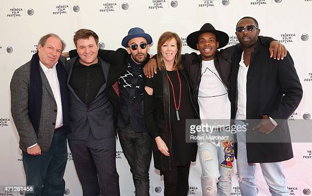 Hans Zimmer Benjamin Wallfisch JR Jane Rosenthal Lil Buck and Ladj Ly attend Tribeca Talks After The MovieLes Bosquets during the 2015 Tribeca Film...
