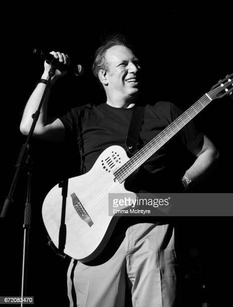Hans Zimmer performs at the Outdoor Theatre during day 3 of the Coachella Valley Music And Arts Festival at the Empire Polo Club on April 23 2017 in...
