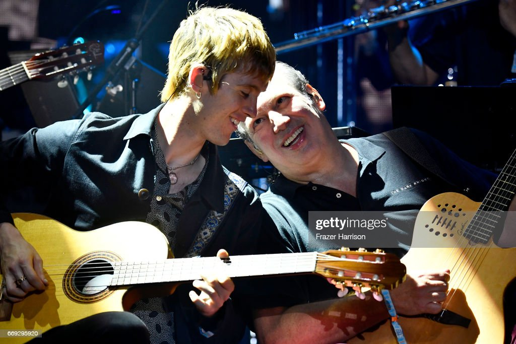 Hans Zimmer performs on the Outdoor Theatre during day 3 of the Coachella Valley Music And Arts Festival (Weekend 1) at the Empire Polo Club on April 16, 2017 in Indio, California.