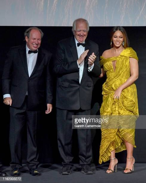 "Hans Zimmer, Sir Tim Rice and Beyonce Knowles-Carter attend the European Premiere of Disney's ""The Lion King"" at Odeon Luxe Leicester Square on July..."
