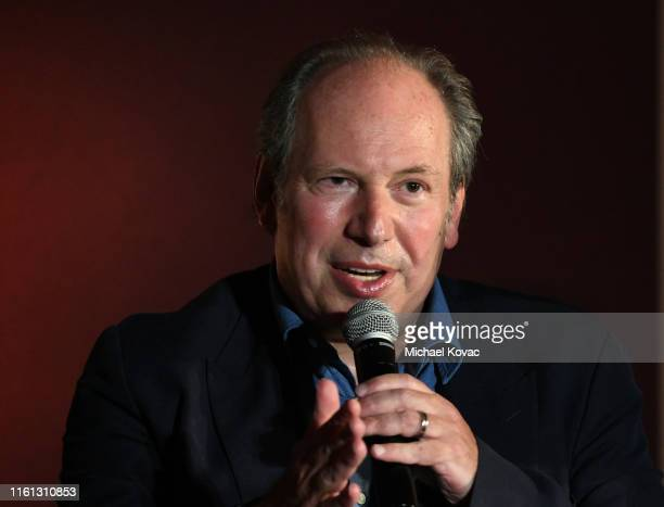 Hans Zimmer speaks onstage at Twitter's fan premiere of Disney's #TheLionKing at Hollywood Highland Centre on July 10 2019 in Hollywood California