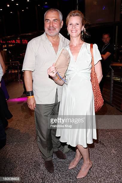 Hansa Czypionka and Leslie Malton attend the 'First Step Awards 2012' in the Stage Theater Potsdamer Platz on August 20, 2012 in Berlin, Germany.