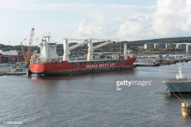 Hansa Heavy Lift Ship in the port of Gothenburg