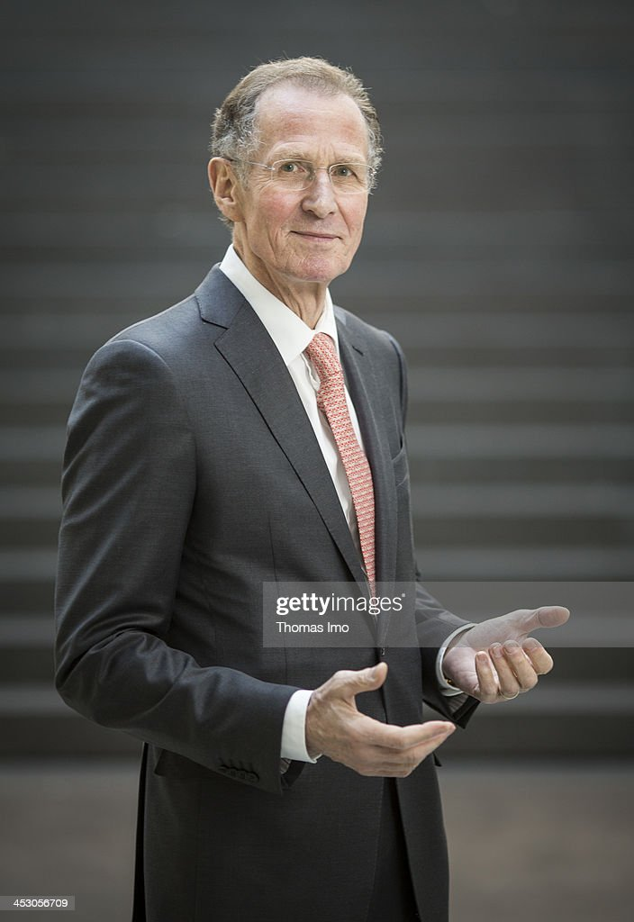 Hans-Adalbert ' Bert ' Ruerup President of Handelsblatt Research Institute, poses during a portrait session on December 02, 2013 in Berlin, Germany.
