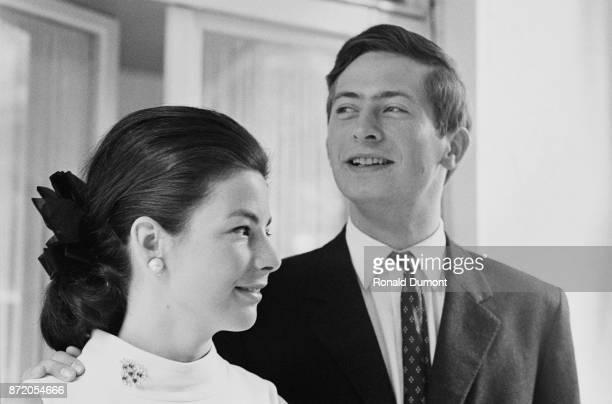 Hans-Adam II, Prince of Liechtenstein, with his wife Marie, Princess of Liechtenstein, at Vaduz Castle, Liechtenstein, 7th August 1967.