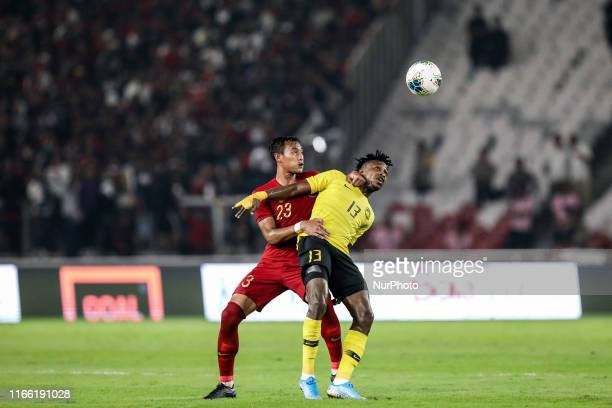 Hansamu Yama Pranata of Indonesian's in action during FIFA World Cup 2022 qualifying match between Indonesia and Malaysia at the Gelora Bung Karno...