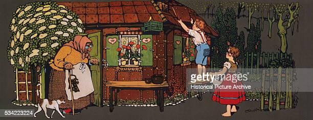 Hansel and Gretel 20th Century Block Print