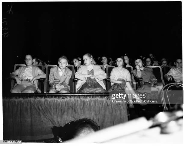 Hansel and Gretel' Opera children watching opera 9 April 1953 Howard Leitner 8 years Michael Hampton 9 yearsCarl Brooks 10 yearsGrace Lynn Martin...