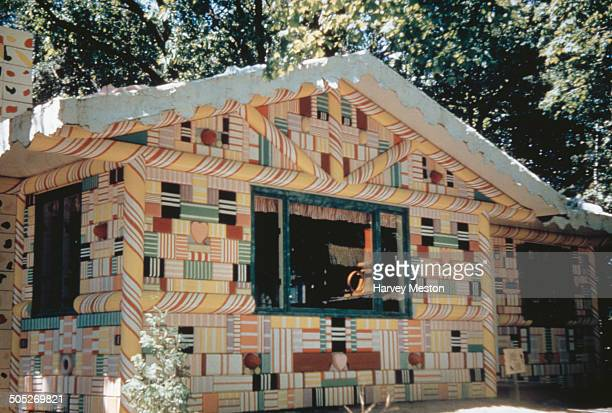 Hansel and Gretel's Candy House at the Fantasy Kingdom amusement park in Plattsburgh New York State USA circa 1965