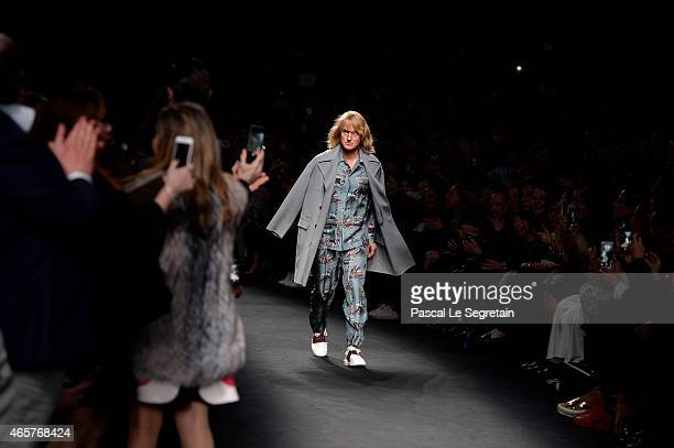 Hansel walks the runway at the Valentino Fashion Show during Paris Fashion Week at Espace Ephemere Tuileries on March 10 2015 in Paris France...