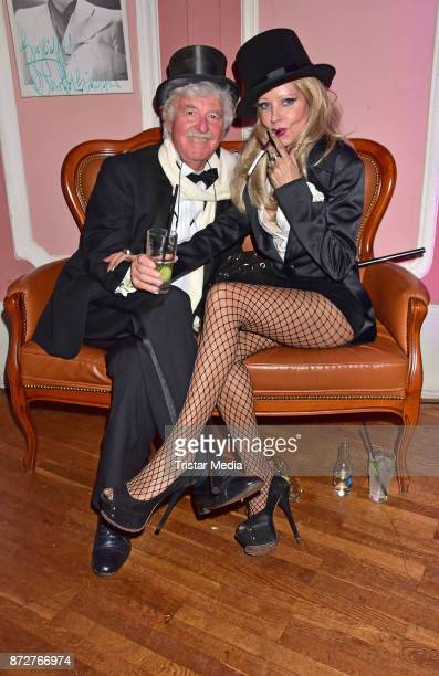 HansGeorg Muth and his wife Gisela Muth attend the 'Night Of The Dead Stars' Masquerade Ball at Schloss Marquardt on November 10 2017 in Potsdam...