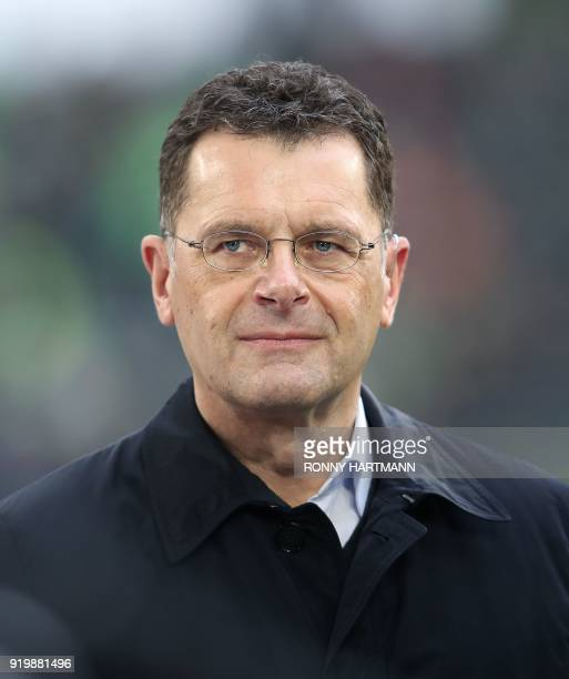 HansGerd Bode Head of Group Communications at German automaker Volkswagen AG is pictured prior to the German first division Bundesliga football match...