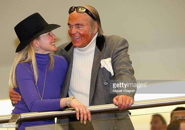 Hans-Hermann Weyer and his wife Christina smile during the Helg Sgarbi trial on March 9, 2009 in Munich, Germany. Sgarbi has been charged with...