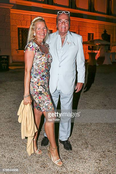 HansHermann Weyer and his wife Christina Weyer attend the Tom Jones Concert during the Thurn Taxis Castle Festival 2016 on July 21 2016 in Regensburg...