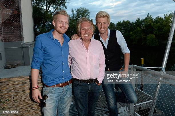 Hansi Arland Henry Arland and Maxi Arland attend the 20 Years Maxi Arland Charity Concert for SOSKinderdorf eV at Optikpark on August 3 2013 in...