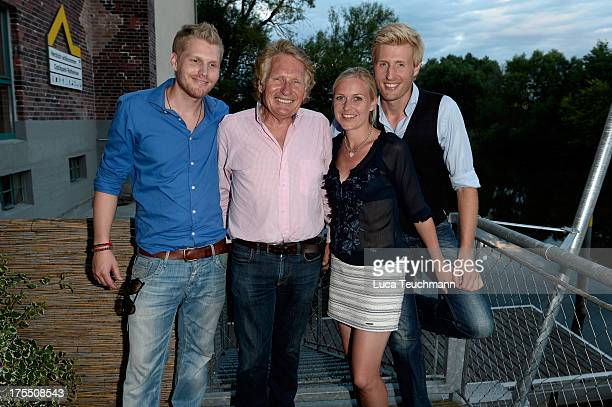 Hansi Arland Henry Arland Andrea Arland and Maxi Arland attend the 20 Years Maxi Arland Charity Concert for SOSKinderdorf eV at Optikpark on August 3...