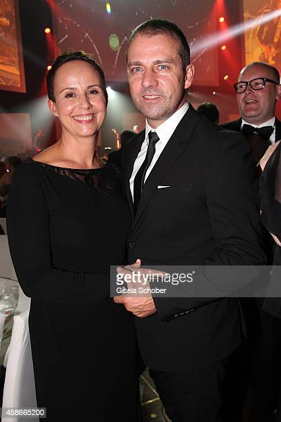 Hansi Flick and his wife Silke during the 33 Deutscher Sportpresseball German Sports Media Ball 2014 at Alte Oper on November 08 2014 in Frankfurt...