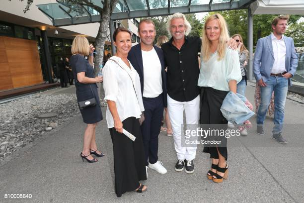 Hansi Flick and his wife Silke Flick Bobby Dekeyser Former professional football keeper and his daughter Carolin Dekeyser during the 50th anniversary...