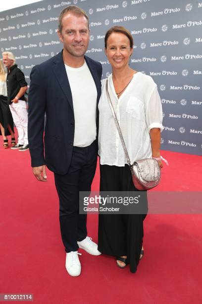 Hansi Flick and his wife Silke Flick during the 50th anniversary celebration of Marc O'Polo at its headquarters on July 6 2017 in Stephanskirchen...