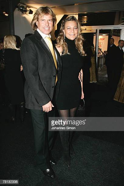 Hansi Hinterseer and his wife Romana attend the Kitzrace Party January 27 in Kitzbuehel Austria