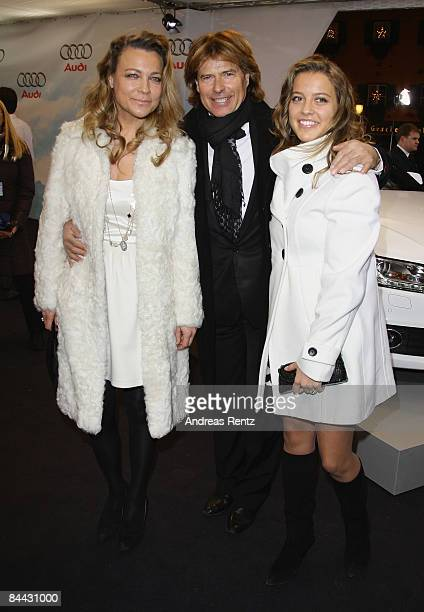 Hansi Hinterseer with his wife Ramona and daughter Laura attend the Audi Night at Hotel 'Zur Tenne' on January 23 2009 in Kitzbuehel Austria