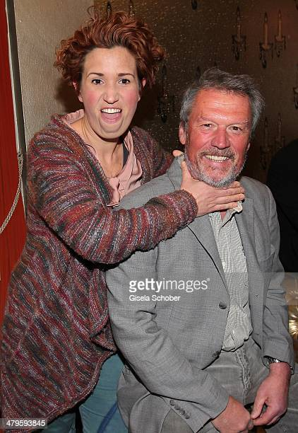 Hansi Kraus and daughter Miriam attend the NDF After Work Presse Cocktail at Parkcafe on March 19 2014 in Munich Germany