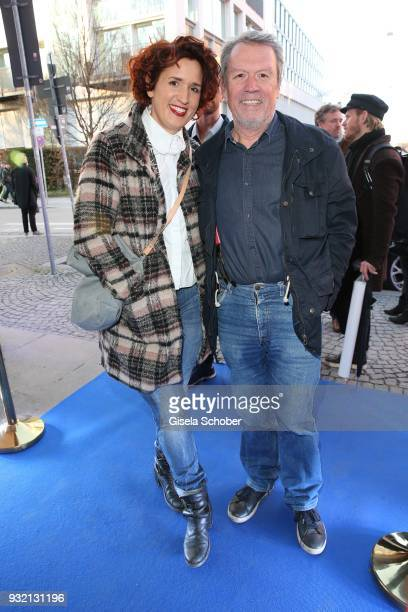 Hansi Kraus and his daughter Miriam Kraus during the NdF after work press cocktail at Parkcafe on March 14 2018 in Munich Germany