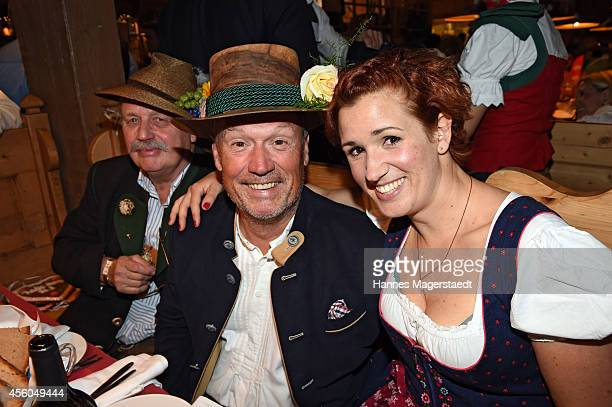 Hansi Kraus and his daughter Miriam Krause attend the Radio Gong 963 Wiesn at Weinzelt during Oktoberfest at Theresienwiese on September 24 2014 in...