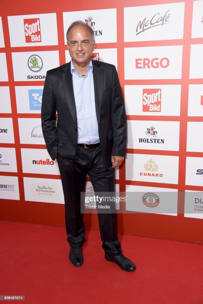 Hansi Mueller attends the Sport Bild Award on August 21, 2017 in Hamburg, Germany.