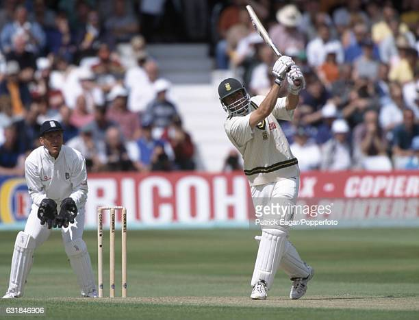 Hansie Cronje batting for South Africa during his innings of 126 in the 4th Test match between England and South Africa at Trent Bridge Nottingham...