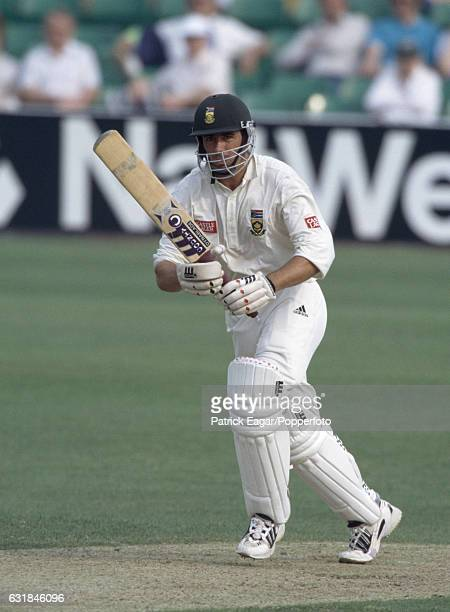 Hansie Cronje of South Africa batting during the tour match between Worcestershire and South Africa at New Road Worcester 14th May 1998