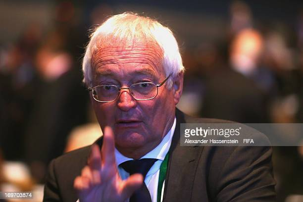 HansJoachim Eckert Chairman of the FIFA Adjudicatory Chamber looks on during the 63th FIFA Congress at Swami Vivekananda International Convention...