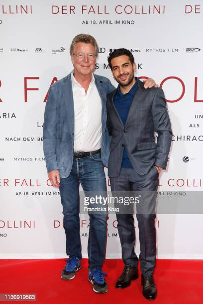 HansJoachim Flebbe and Elyas M'Barek during the Der Fall Collini premiere at Astor Filmlounge Hafen City on April 13 2019 in Hamburg Germany