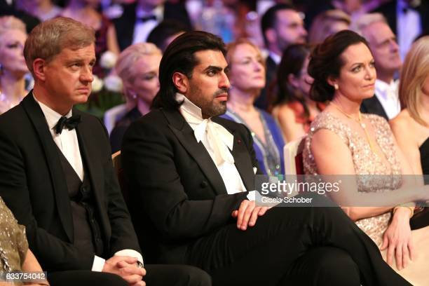HansJoachim Frey Prince Salman bin Abdulaziz bin Salman bin Muhammad al Saud and Natalia Woerner during the Semper Opera Ball 2017 at Semperoper on...