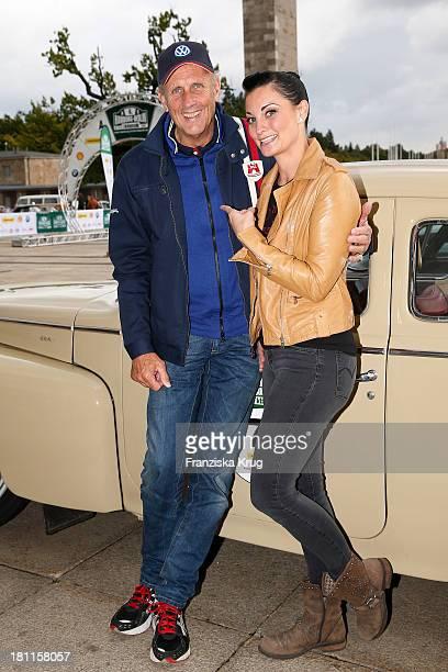 Hans-Joachim Stuck and Lina van de Mars attend the Hamburg-Berlin Klassik Rallye 2013 - Day 1 on September 19, 2013 in Berlin, Germany.