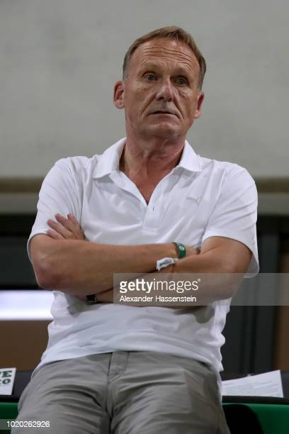 HansJoachim Watzke CEO of Dortmund looks on during the DFB Cup first round match between SpVgg Greuther Fuerth and BVB Borussia Dortmund at Sportpark...