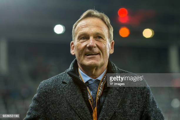 HansJoachim Watzke of Dortmund looks on prior to UEFA Europa League Round of 16 second leg match between FC Red Bull Salzburg and Borussia Dortmund...