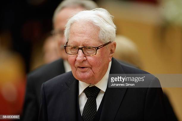 HansJochen Vogel former German minister and former lord mayor of Munich attends a memorial hour at Bavarian parliament for the victims of last week's...