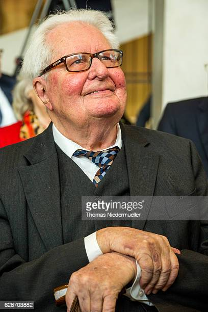 HansJochen Vogel former German minister and former Lord Mayor of Munich is seen during the celebration of the 90th Birthday of Social Democrats Party...