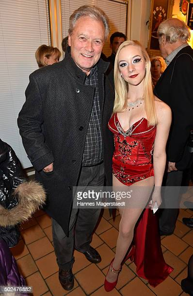 HansJuergen Baeumler and Jorgan McKnight during the 'Circus Krone Christmas Show 2015' at Circus Krone on December 25 2015 in Munich Germany