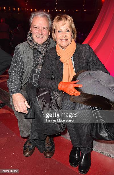HansJuergen Baeumler and Marina Baeumler during the 'Circus Krone Christmas Show 2015' at Circus Krone on December 25 2015 in Munich Germany