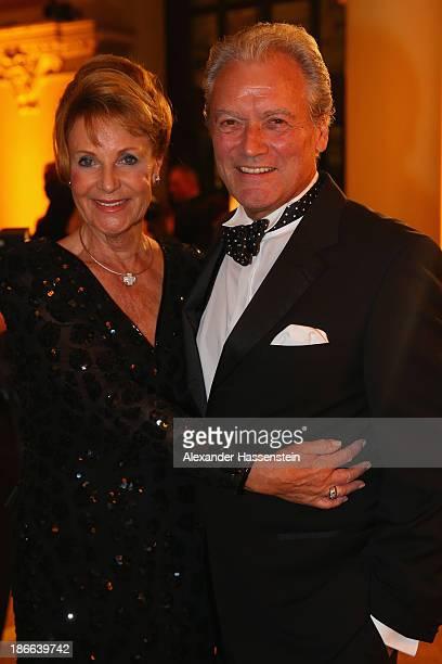 HansJuergen Baeumler attends with Maria Baeumler the 32 Sportpresseball at Alte Oper on November 2 2013 in Frankfurt am Main Germany